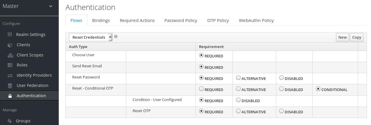 reset credentials flow