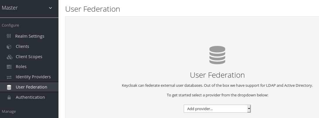 user federation