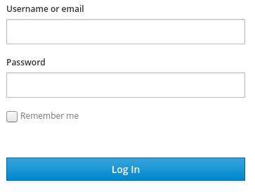 login empty
