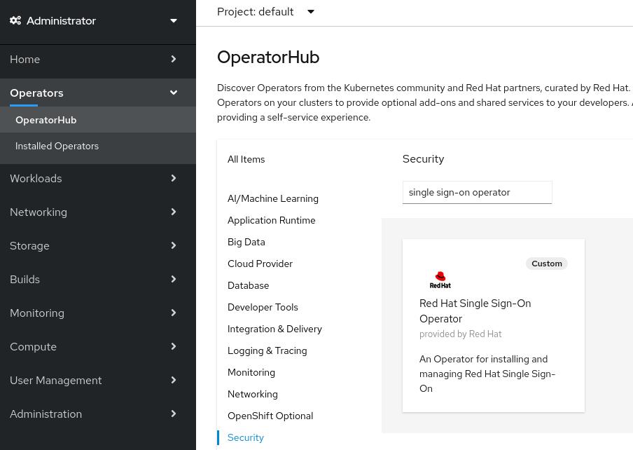 operator openshift operatorhub