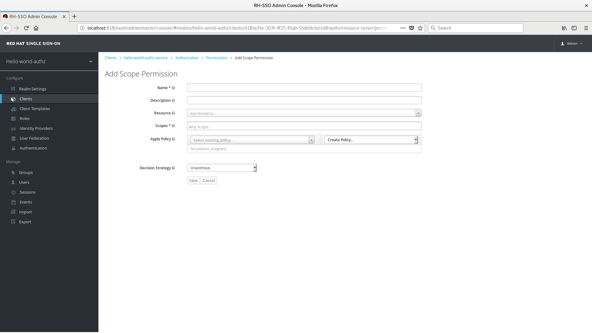 Add Scope-Based Permission