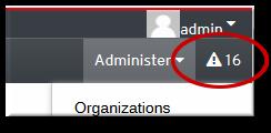 Notification Link in the Admin Menu