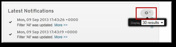 表示される通知件数の変更