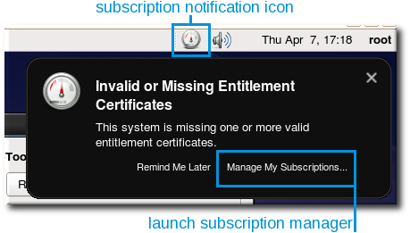 Subscription Warning Message