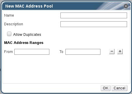 新建 MAC 地址池窗口