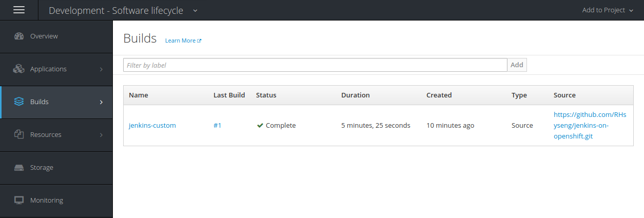 Application CI/CD on OpenShift Container Platform with