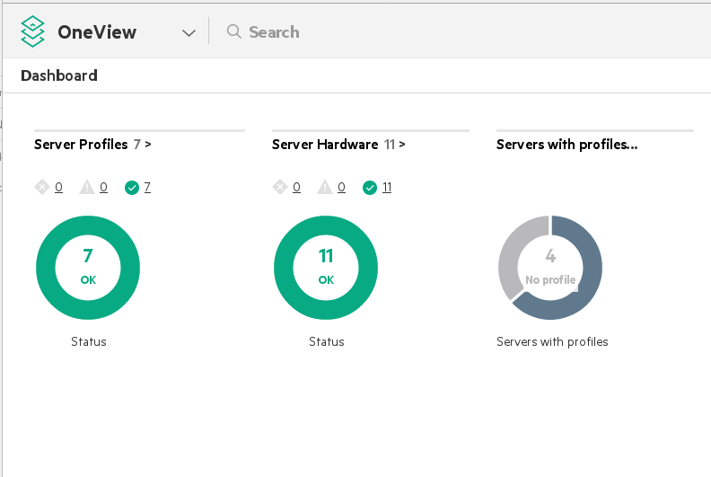 HPE OneView Dashboard