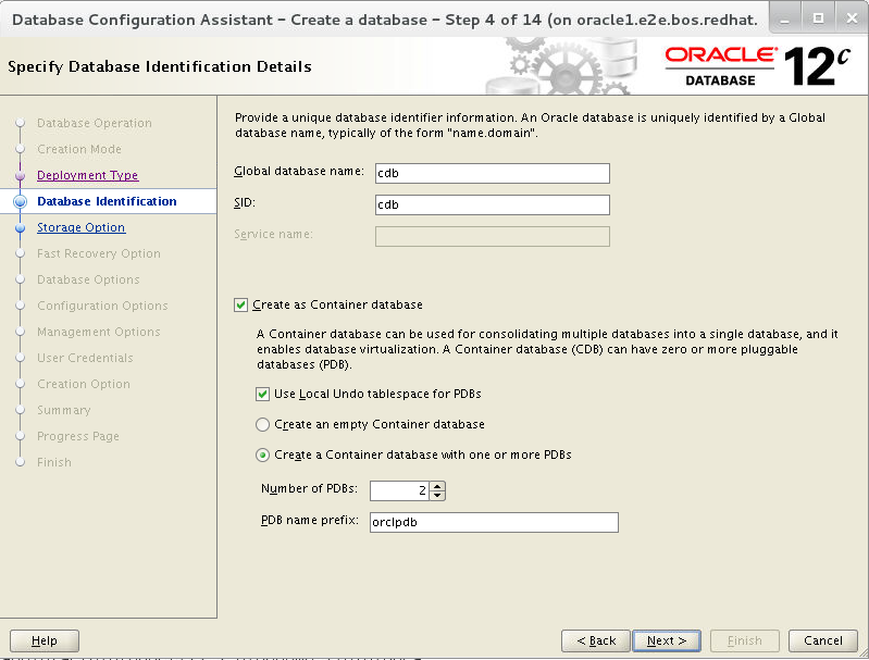 Deploying Oracle Database 12c Release 2 on Red Hat