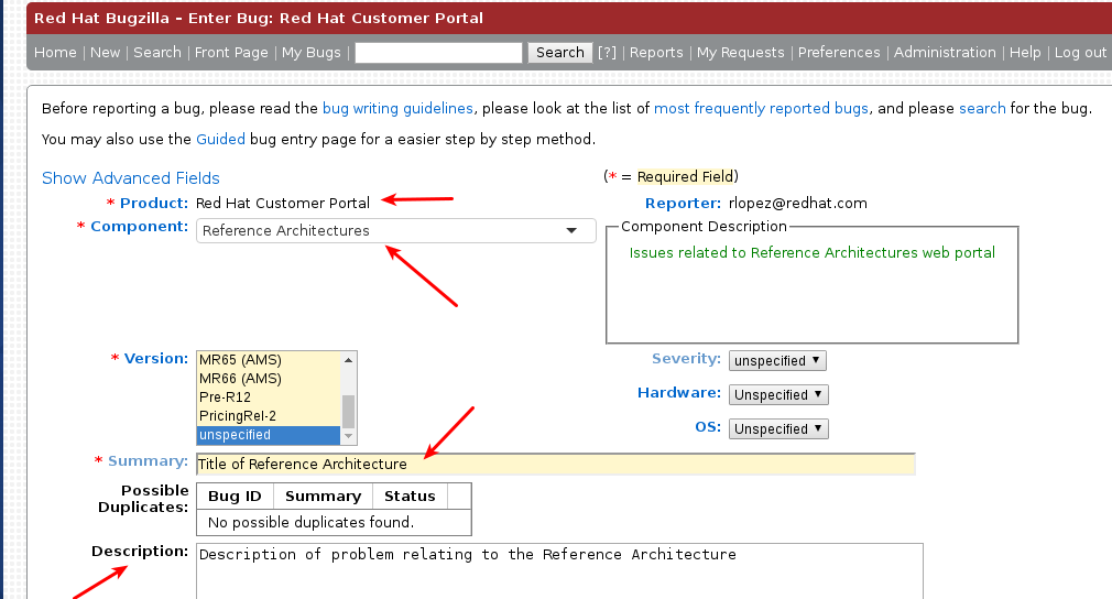 Red Hat Bugzilla Interface