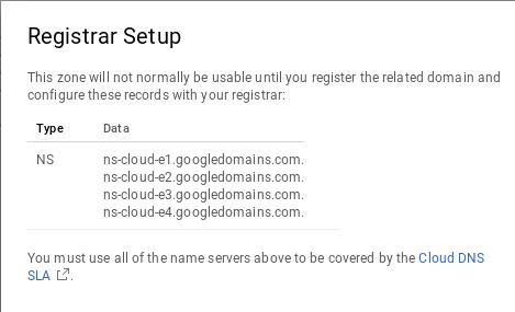Cloud DNS nameservers