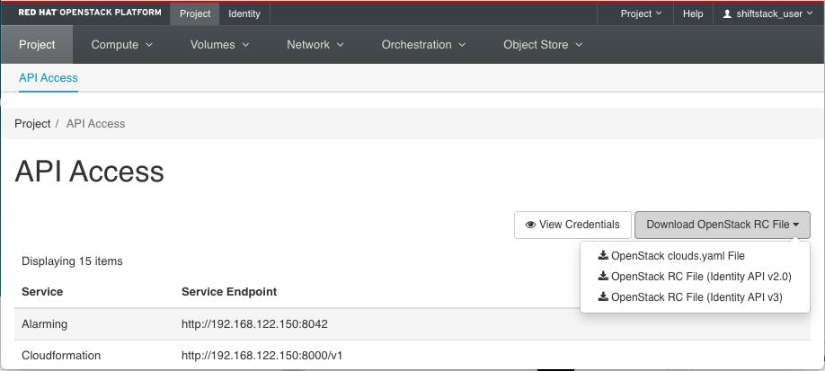 OpenStack Dashboard からのファイルのダウンロード