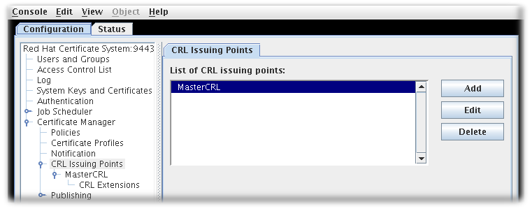Default CRL Issuing Point
