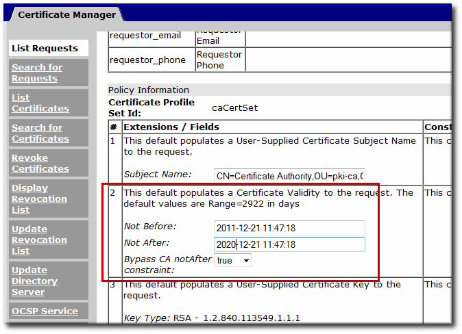 Bypass CA Constraints Option in the Agent Services Page